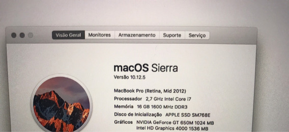 Apple Macbook Pro 15 Retina 768gb I7 2.7 16gb