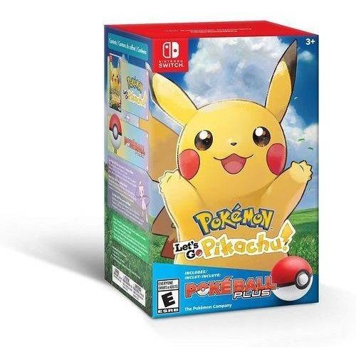 Switch Pokemon Lets Go Pikachu: Pokeball Plus Bundle Lacrado