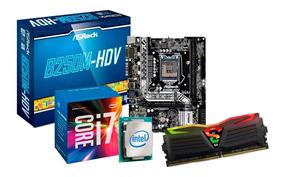 Kit Upgrade Gamer I7 7700 + Placa Asrock B250, 8gb Ddr4 Rgb