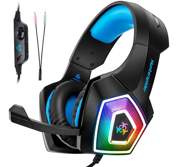 Headset Para Jogos V1 Com Luz Led Suporte Ps4 / Xbox One
