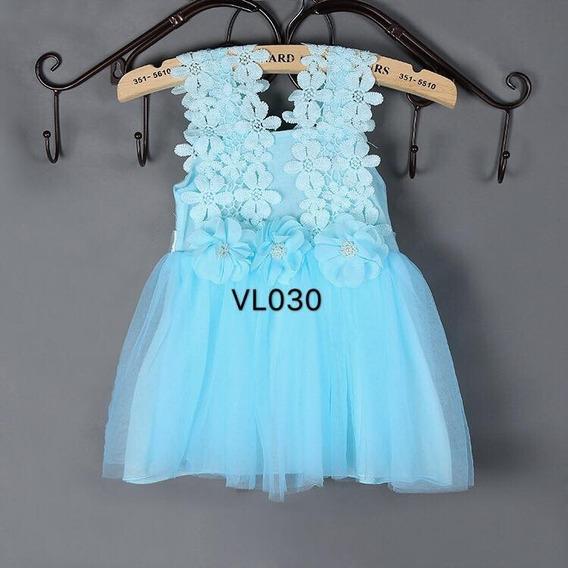 Vestido Bebé Nena Fiesta Cumpleaños Bautismo Importado Vl030