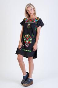 e90f2ff0f Vestidos Bordados Mexicanos - Vestidos de Mujer en Mercado Libre ...