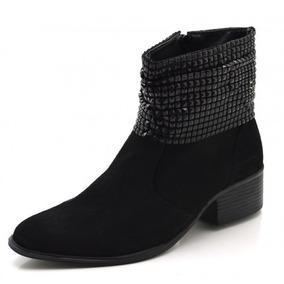 5aed2be16 Bota Preta Com Manta De Strass - Sapatos no Mercado Livre Brasil
