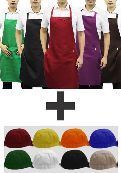 Delantal + Cofia Colores A Eleccion Del Cliente V.colores