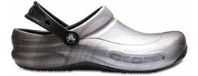 Zapato Unisex Para Chef Crocs Bistro Clog Metálico