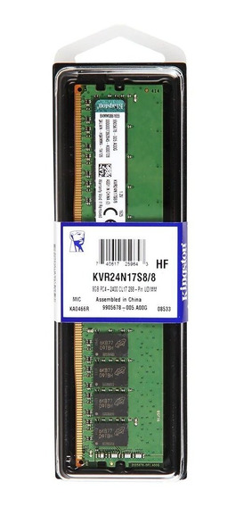 Memoria RAM 8GB 1x8GB Kingston KVR24N17S8/8