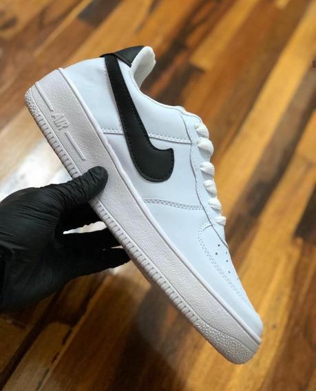 Zapatillas Air Force Blancas Pipa Negra