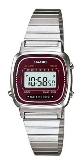 Relógio Casio Vintage Feminino Digital La670wa-4df + Frete