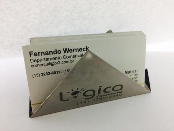 10 Porta Cartões De Metal, Inox Já Personalizados À Laser