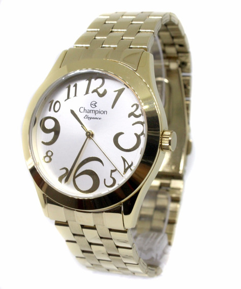Relógio Feminino Champion Dourado Cn26635h Fretegratis