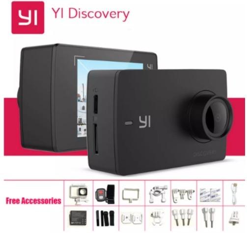 Camera Xiaomi Yi 4k Discovery Com Caixa Estanque E Acessório