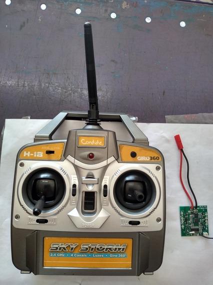 Controle Drone Sky Storm + Placa