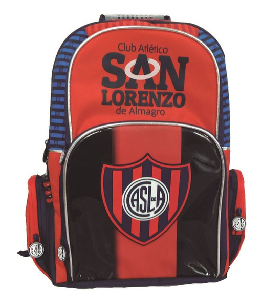 Mochila Futbol San Lorenzo 18 Pulgadas Cuervo Premium Mmk Espal Sl003