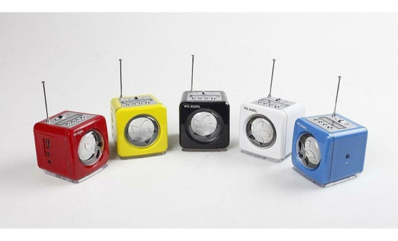Mini Caixa Som Mp3 Rádio Fm Digital Usb Sd Pen Drive