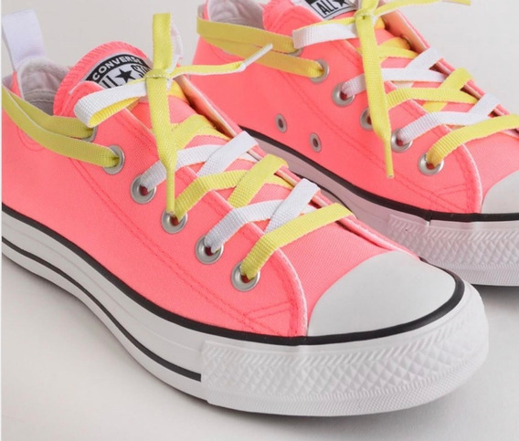Tênis Converse Chuck Taylor All Star Rosa Fluor Ct13660001