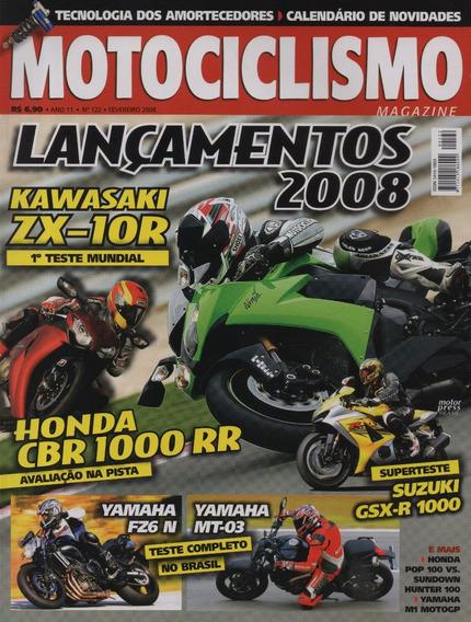 Motociclismo N°122 Ninja Zx-10r Yamaha Mt-03 Cbr 1000 Rr Fz6