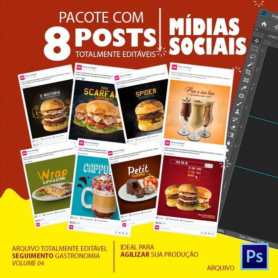 Post Para Redes Sociais Editável - Gastronomia - Vol - 04