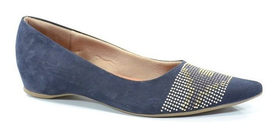 Sapatilha Usaflex Velour Dark Blue - R0526