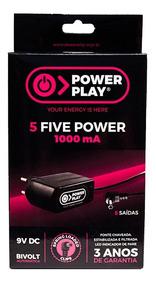 Fonte Para 5 Pedais Power Play Five Power 9v P4 1000ma Nf-e