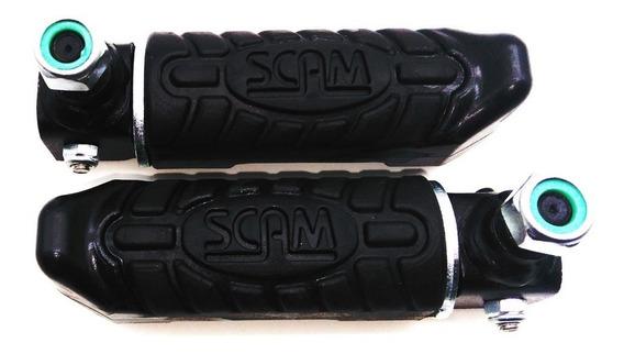 Par Pedaleira Universal Para Protetor De Motor Scam