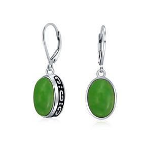 b80665502e4d Bali Estilo 3.2 Ctw Verde Teñido Jade Oval De Piedra Precio