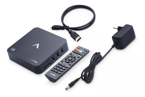 Smart Tv Box Aquário Android 4k Netflix Youtube Com Controle