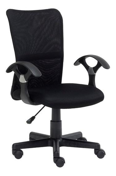 Cadeira Escritório Trevalla Tl-cde-33-1 Ajuste Altura Preta