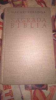 Nacar Colunga-sagrada Biblia-1960-tapa Dura Cocida