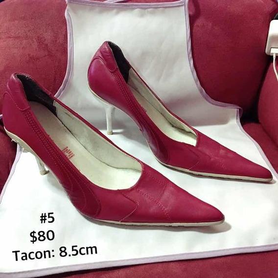 Zapato Para Mujer De Píen En Tacón En Color Rojo