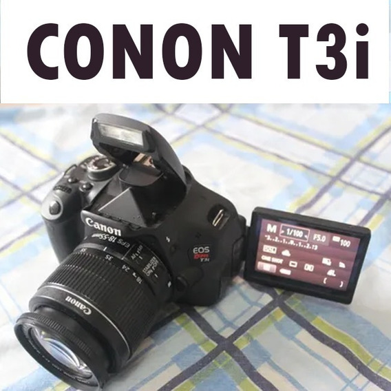 Top Canon T3i + Lente 18-55mm