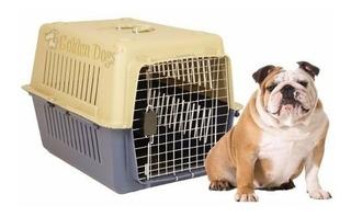 Caja / Jaula Transportadora Para Perro Mediano - Viaje Aereo