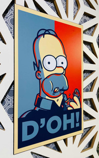 Cuadro Decorativo Homero Simpsonpop Art