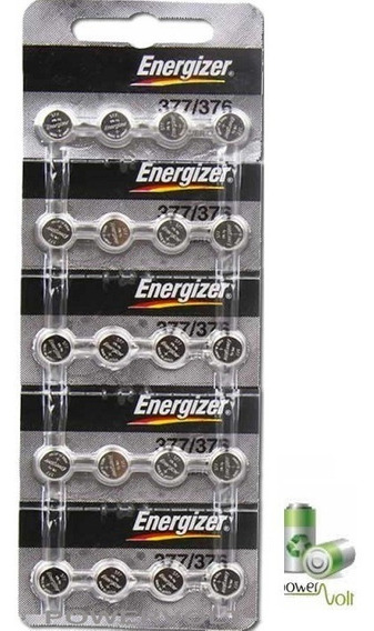 Bateria Energizer 377 / 376 Sr626sw Ag4 | Cart C/20 Pilha