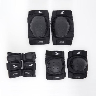 Kit Proteção Atrio Bob Burnquist Preto Unissex Es002