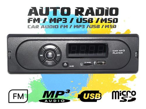 Imagen 1 de 8 de Radio Para  Auto Camioneta  Fm/mp3/usb/sd/mmc 7wx2