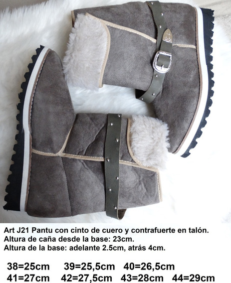 Pantubotas Con Contrafuerte Y Cinto. Horma Ancha - 38 Al 44