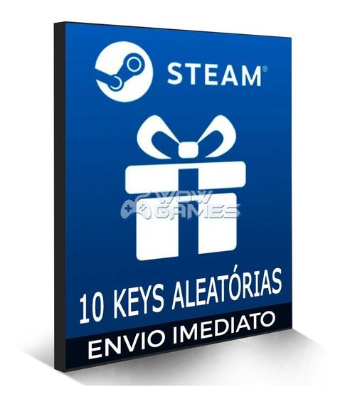 Pack 10 Jogos Steam Aleatório - Pc Game - Keys Originais