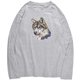 Tripulación Neck Wolfhound Patrón T -camisa