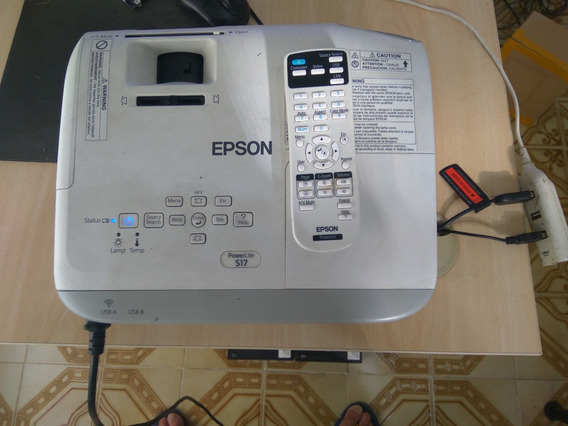 Projetor Epson Powerlite S17 Hdmi 3lcd Svga