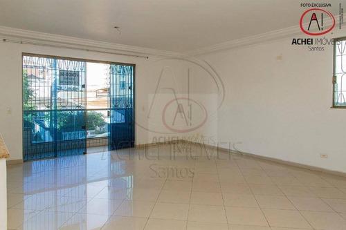 Casa Com 3 Dormitórios Suítes, Lavabo, 2 Vagas De Garagem E Dependência Completa À Venda, 160 M² Por R$ 800.000 - Embaré - Santos/sp - Ca1945