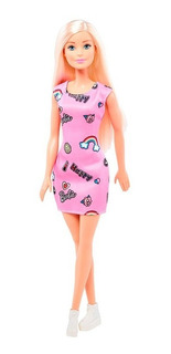 Barbie Muñeca 30cm Original Mattel Vestido Colores Oficial