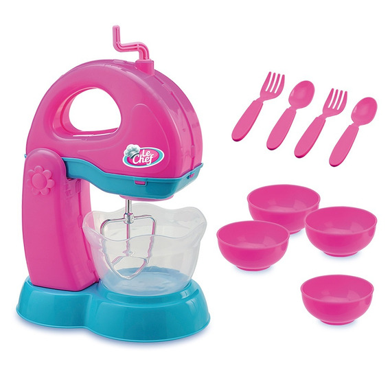 Kit 03 Brinquedos Le Chef Batededeira Liquid E Sanduicheira