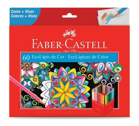 Lápis De Cor Kit Com 60 Cores Faber Castell P R O M O Ç Ã O