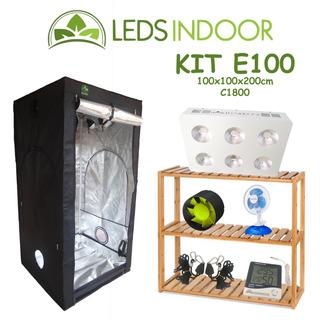 Kit De Cultivo Leds Indoor E100 - 100x100x200cm - Li-c1800