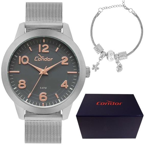 Kit Relógio Condor Feminino Co2036kup/k3c
