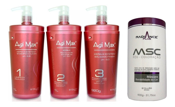 Agi Max Progressiva 3x1000ml+ Mascara Radiance Plus 900g