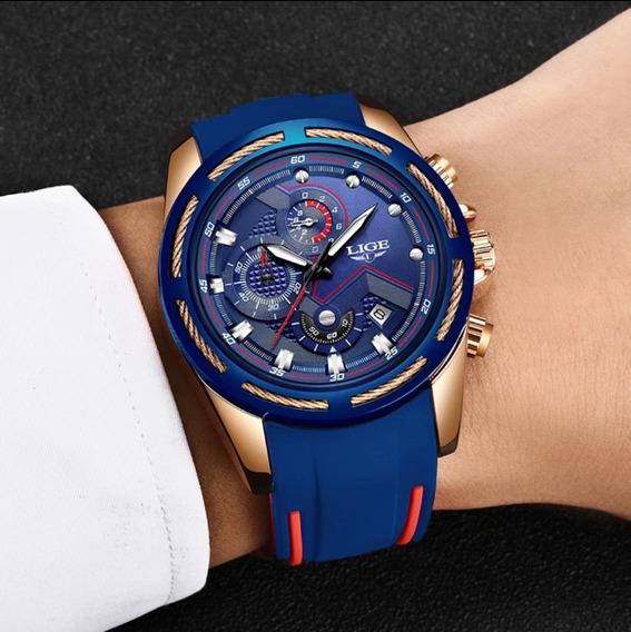 Promoção Relógio De Luxo Lige Lg9957 Movimento Quartzo