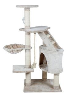 Mueble Rascador Gato Casa Y Hamaca 120cm Oferta Envio Gratis