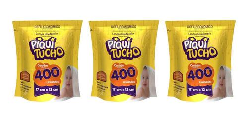 Feelclean Piquitucho Lenços Umed Refil C/400 (kit C/03)