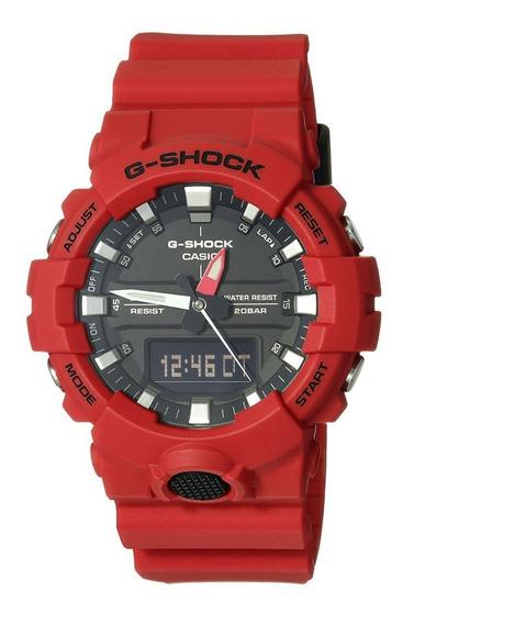 Relogio Casio G-shock Vermelho Ga800-4a Original